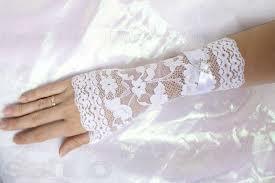 Перчатки невесты на свадьбу