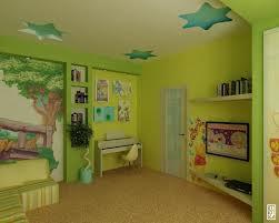 Зеленый цвет в интерьере детской комнаты. Часть 1