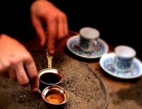 Кофе. Мангал с песком