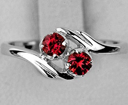 Кольцо с турмалином обманщиком